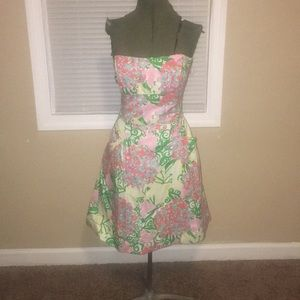 Lilly Pulitzer Multicolor Strapless Dress